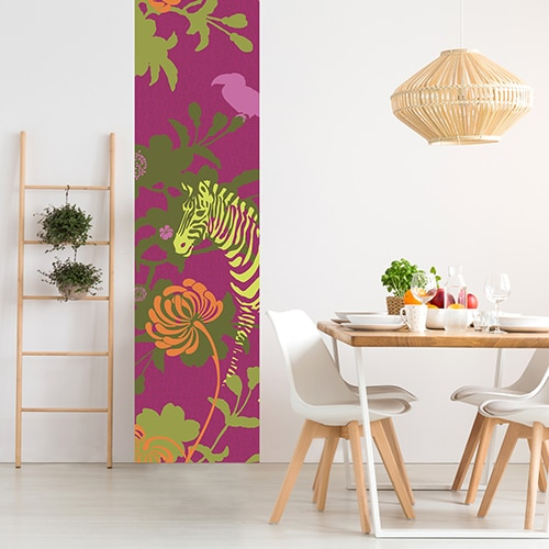 Sticker Savane Violette pour salle à manger