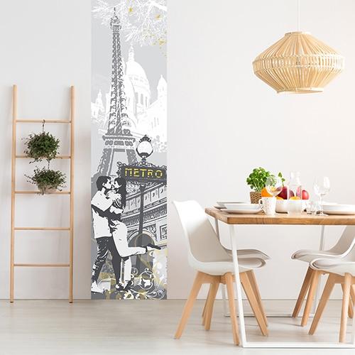 Sticker balade à Paris pour salle à manger