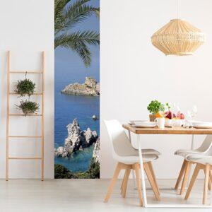 Sticker bord de mer pour décoration de salle à manger