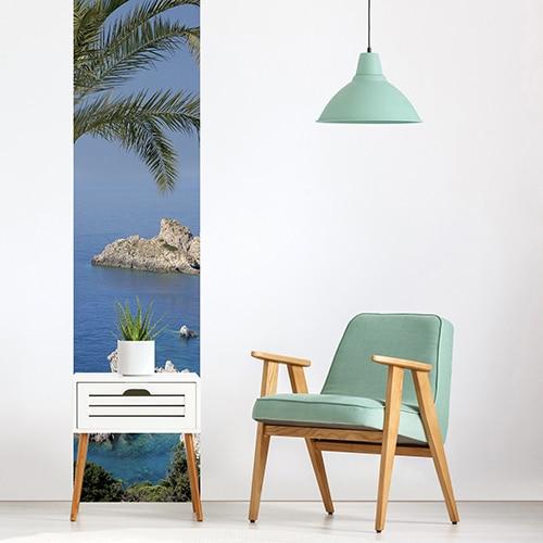 Sticker bord de mer pour salon