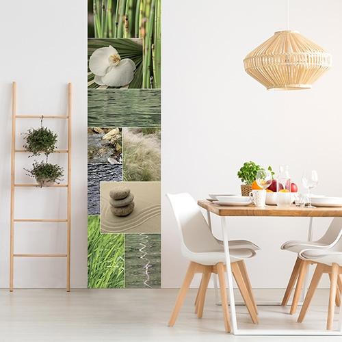 Sticker nature zen pour salle à manger