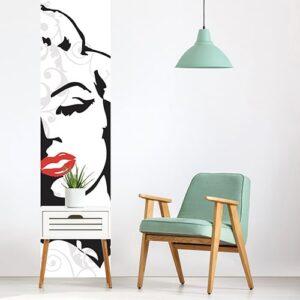 Sticker Marilyn pour déco du salon