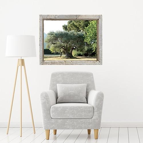 Adhésif ardoise tableau noir Polaroïd dans un salon