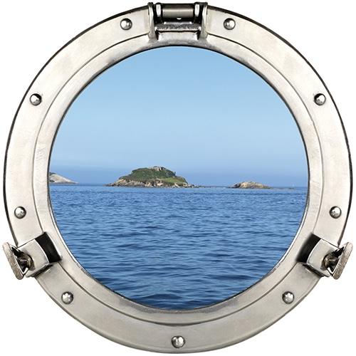 sticker fenêtre hublot de bateau