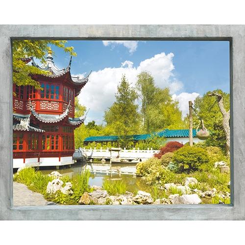 Sticker adhésif trompe l'oeil pour fenêtres Japon