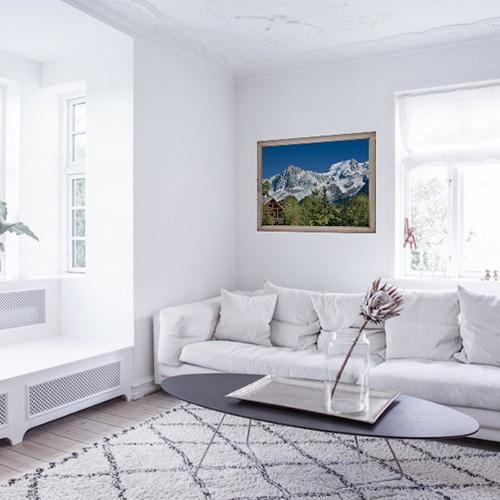 Sticker fenêtre Montagne Chatelet dans un salon blanc