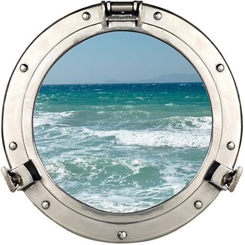 Autocollant fenêtre hublot vue sur la Mer
