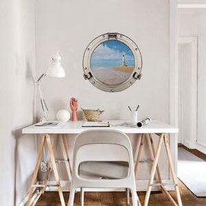 Sticker fenêtre Cordouan au-dessus d'une table blanche