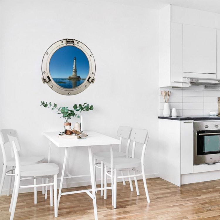 Sticker Phare en mer mis sur le mur dans une cuisine