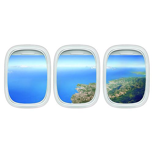Autocollant Vue du Ciel avion pour tête de lit