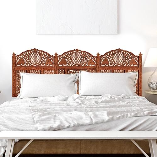 Sticker Moucharabieh oriental rouge pour tête de lit