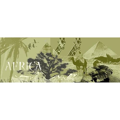 sticker tête de lit safari avec animaux et paysages africains sur un mur clair