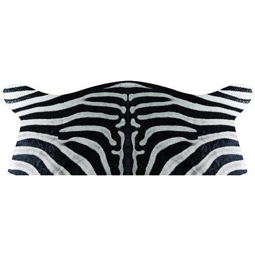 stickers tête de lit motif peau de zèbre mis en situation dans une chambre à coucher murs clairs