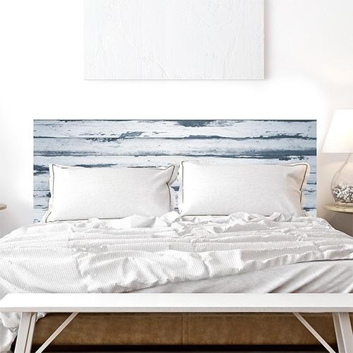 sticker couleur bois gris pour tête de lit
