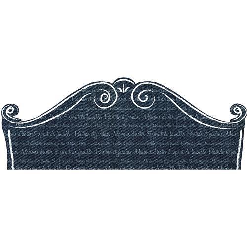 Sticker pour tête de lit Classique Noir et Blanc avec écritures floues sur un mur clair