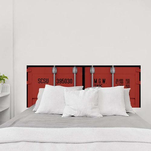 Sticker pour tête de lit Portes de Container Rouge
