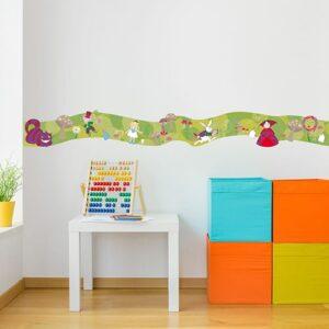 Frise Alice au Pays des Merveilles pour chambre d'enfant