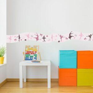 Sticker Frise Danseuses dans une chambre d'enfant