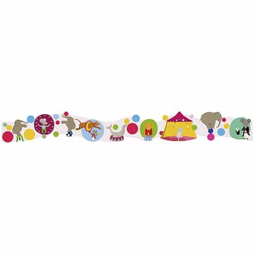Autocollant Frise Cirque des Animaux Acrobabes colorés