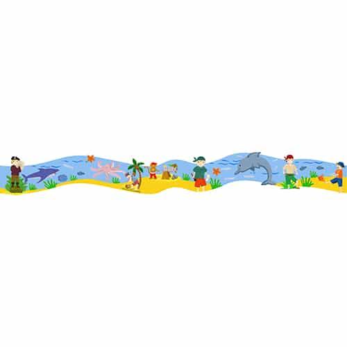Adhésif Frise Pirates et l'Ile au Trésor pour enfants