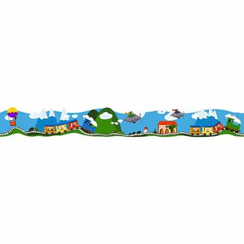 Sticker Frise Train en Voyage pour enfant