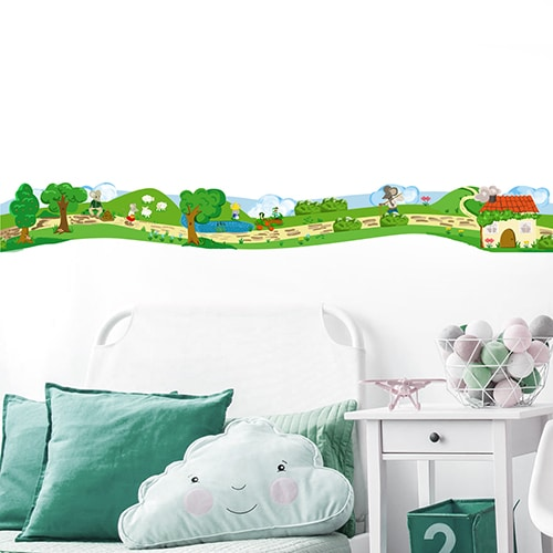 Sticker Frise Souris des champs pour chambre d'enfant