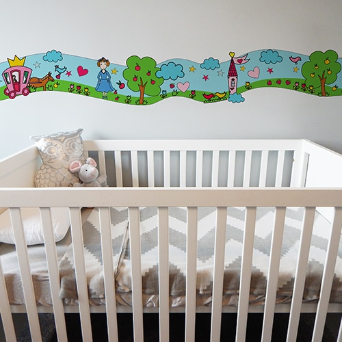 stickers pour carrelage perroquets multicolores