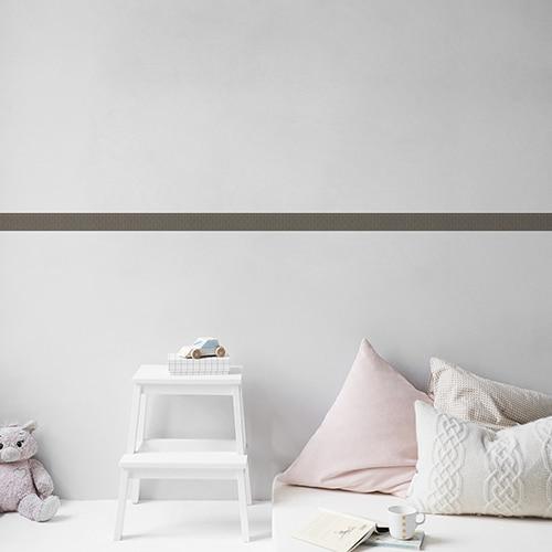 Sticker frise feuille bleue et grise pour chambre d'enfant
