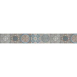 Frise adhésive déco imitation carreaux de ciment pour murs