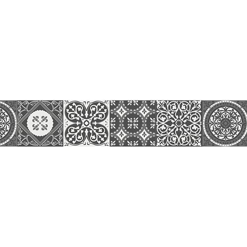 Sticker imitation Carrelage Scandinave Noir et Blanc