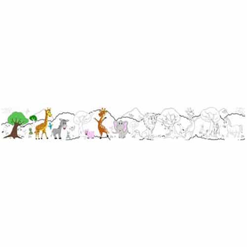 sticker à colorier autocollant éléphant pour enfant