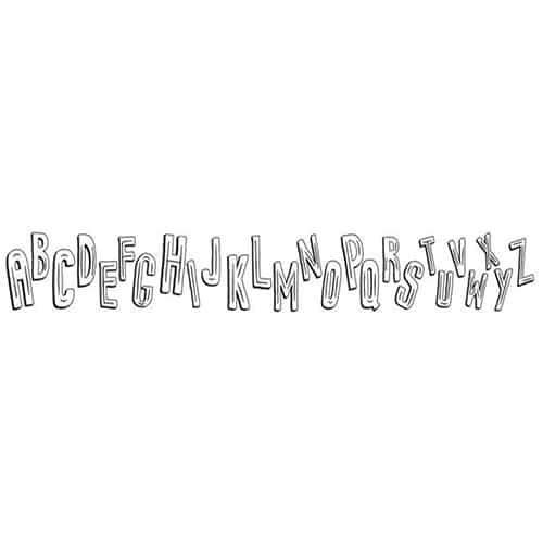 Sticker autocollant frise Alphabet parfait pour les jeunes enfants