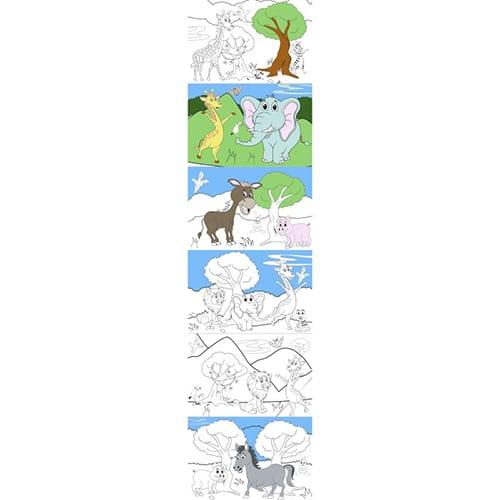 stickers animaux de la ferme et de la savane à colorier
