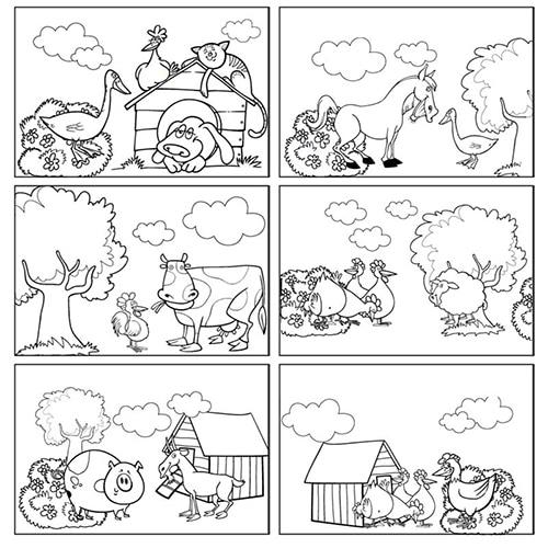 Choix de six de nos stickers animaux de la ferme