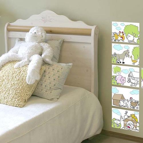 Stickers adhésif animaux de la ferme dans une chambre pour enfants