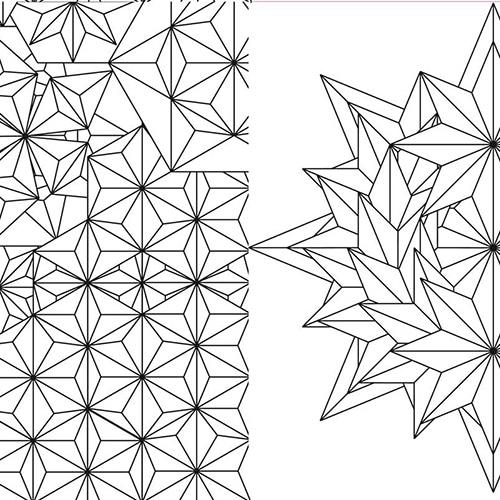 Stickers autocollants à colorier Formes géométriques