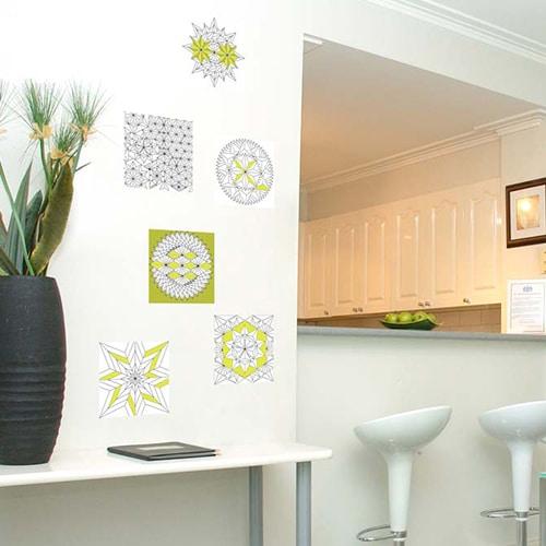 Stickers adhésifs à colorier Formes géométriques