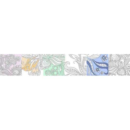 Sticker autocollant fleur indienne à colorier