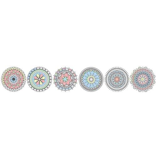 Stickers autocollant à colorier Formes géométriques