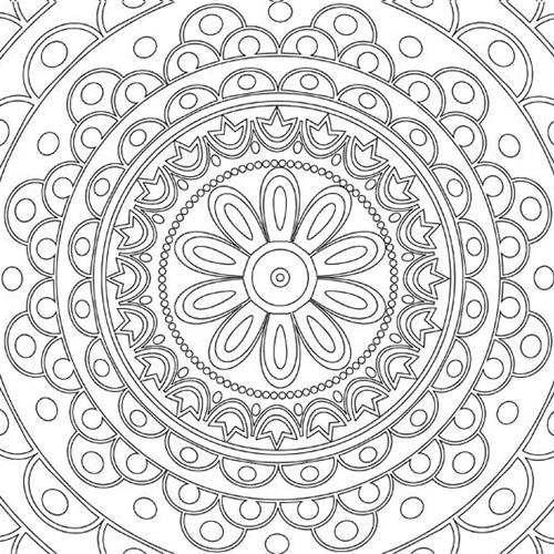 Sticker Rosace à colorier entièrement