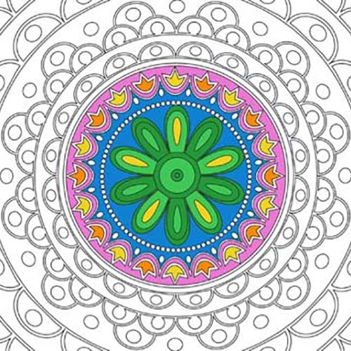 Stickers Rosace à colorier