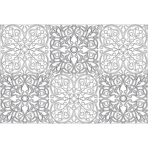 stickers muraux géants avec motifs azulejos à colorier entièrement