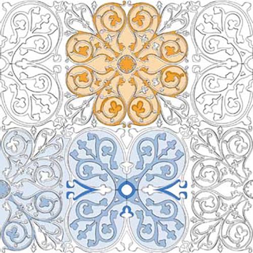 stickers muraux géants à colorier avec motifs azulejos