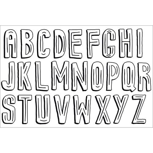 Sticker adhésif géant à colorier Poster alphabet pour enfants