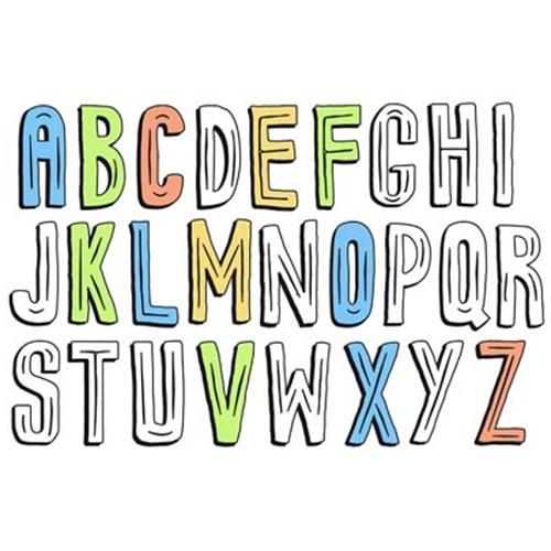 Poster alphabet à coller au mur
