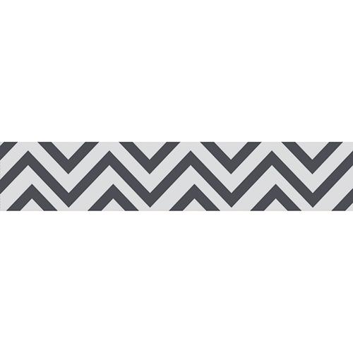Sticker déco gris et blanc pour contremarches d'escalier moderne