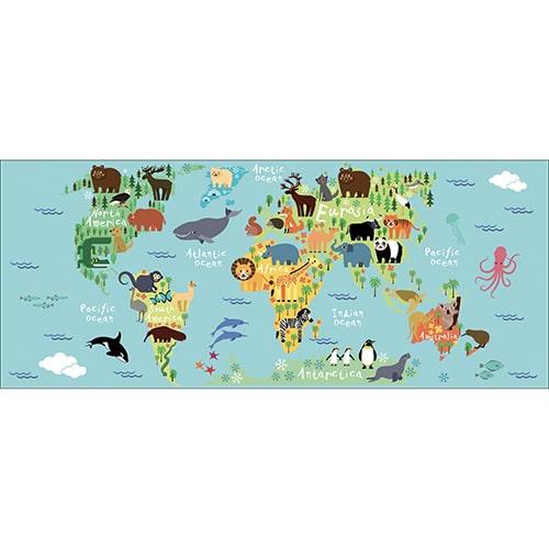 Sticker adhésif Planisphère pour enfant