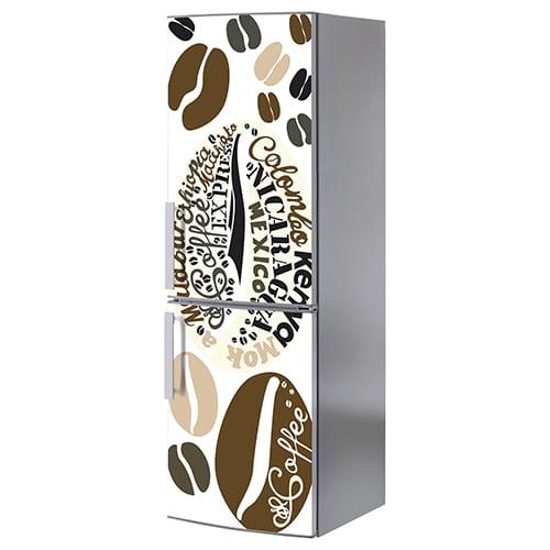 Stickers décoration pour frigo Arabica