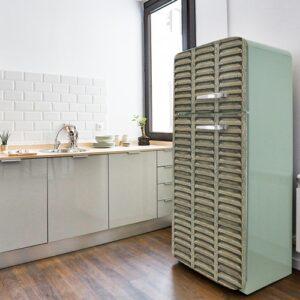 Stickers autocollants Volet pour frigo sur frigo vintage thème bois