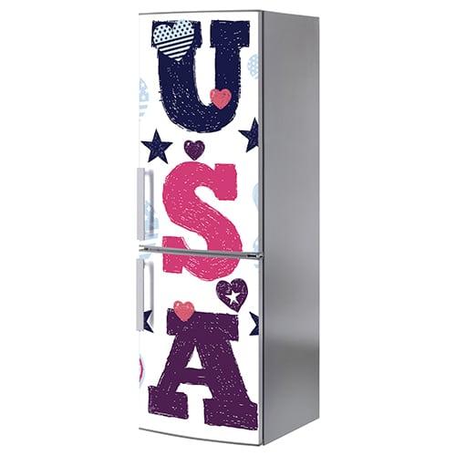 Stickers décoration pour électroménager USA